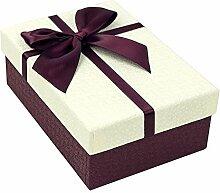 SADASD Geschenk-box Ausgefahrene Höhe erhöhen Rechteckige Hochwertige Geschenk Schachtel Pralinen Bügeleisen, Kekse, L das Geschenk Tasche elegante M, Weiß
