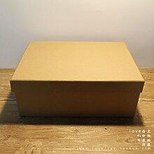 SADASD Geschenk-box Das Geschenk der Kunst und der kulturellen Gemeinschaft Patrone Geburtstagsgeschenk Kraftpapier Patrone Schal Cosmetics Packaging Valentinstag Geschenk Sets Kreative 22,5 * 14 * 6,5 cm, L Kraftpapier () leere Patronen aus.