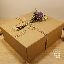 SADASD Geschenk-box Das Geschenk der Kunst und der kulturellen Gemeinschaft Patrone Geburtstagsgeschenk Kraftpapier Patrone Schal Kosmetikverpackungen Valentinstag Geschenk Sets Kreative 22,5 * 14 * 6,5 cm Kraftpapier (mit Zubehör)