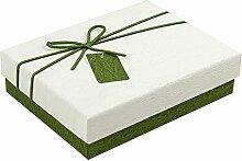 SADASD Geschenk-box Die Steigung rechteckige Bügeleisen Schachtel Kekse Patronen manuell Kekse Valentinstag Geschenkbox Geschenkbox Danke Zurück Serie L 23 * 18 * 7 cm Naturweiß