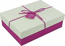 SADASD Geschenk-box Die Steigung rechteckige Bügeleisen Schachtel Kekse Patronen manuell Kekse Valentinstag Geschenkbox Geschenkbox Danke Return 23 * 18 * 7 cm Serie L M, Weiß