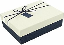 SADASD Geschenk-box Die Steigung rechteckige Bügeleisen Schachtel Kekse Patronen manuell Kekse Valentinstag Geschenkbox Geschenkbox Danke zurück Xl 30 * 21 * 10 cm Elfenbein
