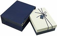 SADASD Geschenk-box Die Steigung rechteckige Bügeleisen Schachtel Kekse Patronen manuell Kekse Valentinstag Geschenkbox Geschenkbox Danke Zurück zu der Zeremonie M 21 * 16 * 6 cm Elfenbein Geschenkbeutel