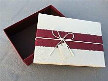 SADASD Geschenk-box Geschenkbox ein rechteckiges Feld mit dem Ende der Schal zum Geburtstag Geschenkbox Geschenkbox Luxus Kassette Fach 28 * 20 * 8,5, eine Farbe