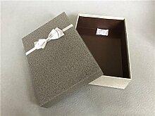 SADASD Geschenk-box Geschenkbox ein rechteckiges Feld mit dem Ende der Schal zum Geburtstag Geschenkbox Geschenkbox Luxus Kassette Fach 32,5 * 24 * 11 Graue Deckel