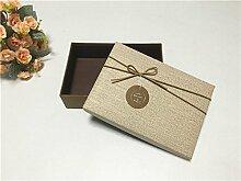 SADASD Geschenk-box Geschenkbox ein rechteckiges Feld mit dem Ende der Schal zum Geburtstag Geschenkbox Geschenkbox Luxus Kassette Fach 32,5*24*11 Wallpaper eine Farbe