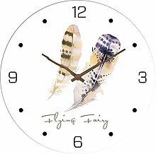 SADASD Regulator Uhren Wand Mute Uhr Wohnzimmer