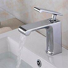 SADASD Waschbecken Wasserhahn Fashion Diamond Line Modellierung Bühne Waschbecken Wasserhahn Modern Home Bad Dekoration Kupfer Hot And Cold Becken Wasserhahn