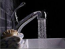 SADASD Wasserhahn Küche mit warmen und kalten Wasserhahn Universal Rotary Gericht Waschbecken Wasserhahn Teleskop Ziehbaren Waschbecken Armatur Armaturen