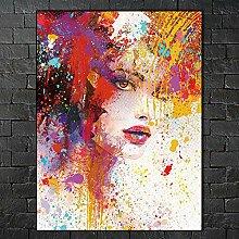 SADHAF Farbe Zusammenfassung Hübsches Mädchen