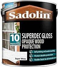 Sadolin Superdec Glänzend, 2,5 l, Superweiß.
