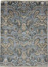 Sadraa Teppich Orientteppich 245x175 cm, Indien Handgeknüpft Designer
