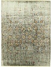 Sadraa Teppich Orientteppich 291x222 cm, Indien Handgeknüpft Designer
