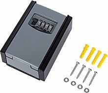 Sadzero Schlüsseltresor Schlüsselsafe Mit 4-stelligem Zahlencode/Schlüsselbox mit Zahlenkombination/wasserdicht und rostfrei/Key Lock Box zur Wandmontage