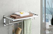 SAEJJ-Aluminium Handtuchhalter bad accessoires badezimmer Handtuchhalter rack space Getränkehalter klappbar
