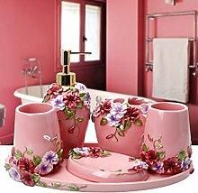 SAEJJ-bad anzug, europäischen stil einfach harz, badezimmer mit bad wäscht sechs sets,ein