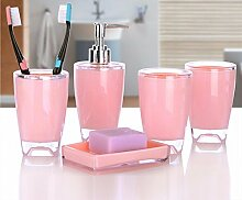 SAEJJ-Badezimmer - Set Einfachen Stil Aus Material Fünf Stück Bad Wäscht Sieb C