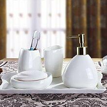 SAEJJ-Badezimmer - Set Keramischen Material Stil Bad Waschen Sieb Vier Stück