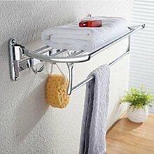 SAEJJ-bewegliche handtuchhalter edelstahl handtuchhalter falten handtuchhalter, handtuchhalter balkon, badezimmer - aktivitäten,40