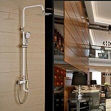 SAEJJ-Brausegarnitur Kupfer Badezimmer Regen Dusche Wasserhahn Handheld Turbo Dusche Düse Einstellbar Duschgarnitur duschsysteme