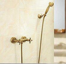 SAEJJ-Einfache Brauseset Antik Kupfer Badewanne Dusche Wasserhahn duschsysteme