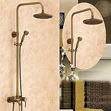 SAEJJ-Europäischen Antike Kupfer Dusche Armatur Brauseset duschsysteme