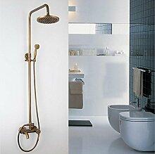 SAEJJ-Europäischen Kupfer Antik Dusche Set Brausebatterie Heiß Und Kalt duschsysteme