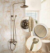 SAEJJ-Europäischen Kupfer Antik Einstellbare Dusche Brauseset , B6 duschsysteme