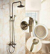 SAEJJ-Europäischen Kupfer Antik Einstellbare Dusche Brauseset , B4 duschsysteme