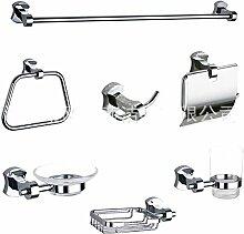 SAEJJ-Europäischen Stil minimalistisch Silber / Kupfer Satz von sieben Badezimmer Zubehör-se