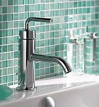 SAEJJ-Kalt - Und Warmwasser Tap Kupfer Sitz Art Bauart Wasserhahn Badezimmer Waschbecken Wasserhahn