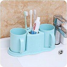 SAEJJ-kreative heimat plastik gurgeln cup, badezimmer, multifunktionale zahnbürste, zahnpasta rack,blau