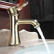 SAEJJ-Mode einfachen Single-Loch-Waschtisch-Armatur, antike Kunst Waschtischarmaturen, keramische heißen und kalten Wasserhahn