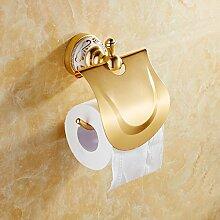 SAEJJ-Raum Aluminium gold kontinentalen Handtuch Rack Bad Regal Rack Bad Accessoires Set Badezimmer Hardware Toilettenpapier Handtuchhalter