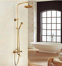 SAEJJ-Steigenden Kupfer Antik Dusche Set Dusche Wasserhahn , 3 duschsysteme