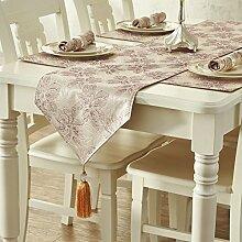 SAEJJ-Tischläufer Pflanzen europäischen Luxus Restaurants Teetisch Couchtisch Bett Schals , deep purple , can be customized Tischdecke