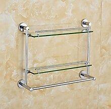SAEJJ-Towel Rack accessoires, glas, edelstahl - Towel Rack handtuchhalter