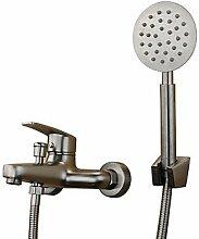 SAEJJ-Zeitgenössische antike Badewanne und Dusche weit verbreitete withCeramic Ventil einzigen Griff zwei Bohrungen forStainless Stahl, Badewanne Armatur