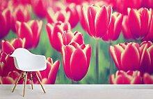 Sättigen Retro Tulpen Wallpaper Fototapete 3D