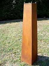 Säule Edelrost aus Metall !!!! 120cm !!!! Deko Gartendeko Rost Vase Garten Skulptur Pflanzsäule Gartensäule Rostsäule Pflanzkübel