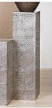 Säule Purley Metall antik silber 100 cm hoch