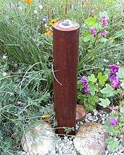 Säulenbrunnen 80 cm Cortenstahl Roststahl