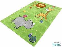 Safari grün HEVO® Handtuft Teppich |