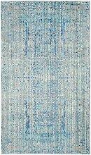 Safavieh Abella gewebter Teppich, MYS971D, Hellblau / Mehrfarbig, 91 X 152  cm