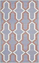 Safavieh Aklim Handgewebtes Flachgewebe Teppich, Wolle, Lila/Mehrfarbig, 121 x 182 cm