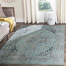 Safavieh Ambrosine gewebter Teppich, ATN330K, Hellblau, 91 X 152  cm