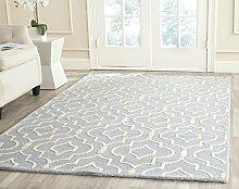 Safavieh Ariel handgetufteter Teppich, CAM141A, Hellblau / Elfenbein, 182 X 274  cm