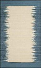 Safavieh Carolina Handgeknüpft Teppich, Wolle, Beige / Hellblau, 121 x 182 cm