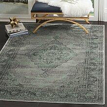 Safavieh Charlotte gewebter Teppich, VTG159-110, Hellblau, 160 X 228  cm