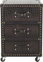 Safavieh EAF9507 Kommode, Holz, Silber, 43 x 35 x